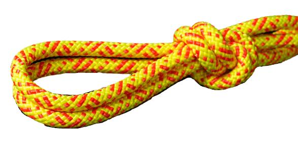 חבל סטאטי 11ממ צהוב/אדום EN1891 RUSH